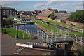 SJ4077 : Whitby Locks, Shropshire Union Canal by Stephen McKay
