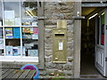 SE0263 : Gold painted post-box, Hebden by Peter Barr