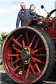 SP9214 : Burrell Traction Engine 'Crimson Lady', Lower Icknield Way, Marsworth by Dave Hitchborne