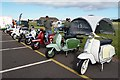NT5578 : The East Lothian Scooter Club at East Fortune : Week 39