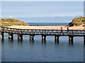 NJ2370 : A pedestrian bridge to Lossiemouth East Beach by Walter Baxter