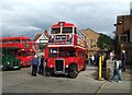 Former London Transport RTL 453 is a vintage Leyland PD2/1 with Park Royal bodywork and dates from 1949. Now owned by Ensignbus it is today providing a free bus service to Kingsbury for visitors to the Willesden Garage Open Day.