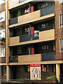 TQ3182 : Balconies, Tunbridge House, Spa Green Estate by Julian Osley