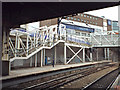 SP0686 : New stairs under construction, platform 12, New Street station by Robin Stott