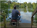 TQ3469 : Recreation at South Norwood Lake by Robin Drayton