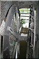SJ4570 : Mickle Trafford Mill - south wheel by Chris Allen