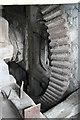 SJ4570 : Mickle Trafford Mill - north pit wheel. by Chris Allen
