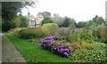 SP1392 : Herbaceous beds in the gardens, Pype Hayes Hall, autumn by Robin Stott