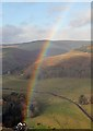 NT3929 : A rainbow in the Yarrow Valley : Week 45