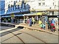 SJ8498 : Tram Outside Debenhams by David Dixon