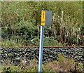 J3478 : Railway milepost, Belfast by Albert Bridge