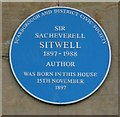 Photo of Sacheverell Sitwell blue plaque