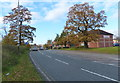 SK5504 : Heading west along the A47 Hinckley Road by Mat Fascione