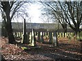 SP0588 : Key Hill Cemetery, Hockley: obelisk and rows of headstones, lower area by Robin Stott