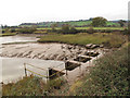 SX9685 : Sluice adjacent to Turf Lock by Stephen Craven