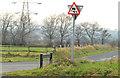 "J3389 : ""Slippery road ahead"" sign, Lisglass by Albert Bridge"