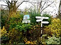TL4238 : Great Chishill, village sign and sign post by Bikeboy