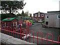 SJ7764 : Playground, south side of Brereton Primary School by Christine Johnstone