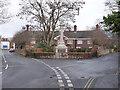 SK5539 : Albert Ball Memorial Homes and Lenton War Memorial by Alan Murray-Rust