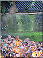 SJ3796 : Bench mark on Fazakerley Brook bridge, Higher Lane by John S Turner