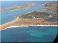 SV8914 : Aerial view of Tresco after take off from St. Marys by Martin Southwood