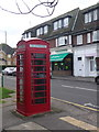 SU9566 : Sunningdale: phone box in Chobham Road by Chris Downer