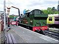 SO7192 : North end of Platform 2, Bridgnorth Railway Station by Peter Holmes