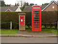 SK6619 : Ragdale, postbox and telephone kiosk by Alan Murray-Rust
