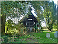 SP7225 : Middle Claydon cemetery 'chapel' - rear view by Robin Webster