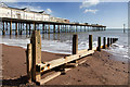 SX9472 : Pier and groyne, Teignmouth by David P Howard