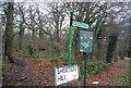 TQ4476 : Green Chain Walk enters Oxleas Wood by N Chadwick