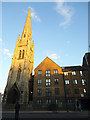 TQ3875 : Spire of former URC Church, Lewisham by Stephen Craven