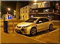 J5082 : 'E-Car' charge point and car, Bangor by Rossographer
