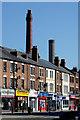 SO9098 : Shops and chimneys in Chapel Ash, Wolverhampton : Week 10