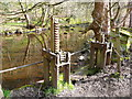 SE0420 : Remains of a penstock at a weir on the River Ryburn by Humphrey Bolton