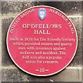 Photo of Oddfellows Hall, Pateley Bridge red plaque