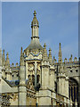 TL4458 : Gatehouse (detail) and Chapel at King's College, Cambridge by Roger  Kidd