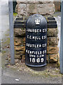 SK5741 : Boundary Marker, Redcliffe Road top by Alan Murray-Rust