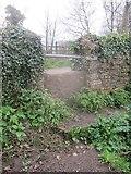 ST5756 : A Mendip stone slab stile at Shrowl Bridge by Dr Duncan Pepper