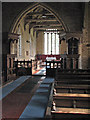 TL1175 : Leighton Bromswold: St Mary - nave, chancel and pulpits by John Sutton