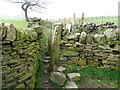 SE0420 : Stile at Cow lane end of Ripponden FP58 by Humphrey Bolton