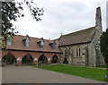 SK7440 : Thomas Cranmer Centre and St Thomas' Church, Aslockton by Alan Murray-Rust