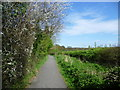 TQ4266 : Path alongside Richmal Crompton Fields by Marathon
