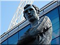 TQ1985 : Statue of Bobby Moore at Wembley Stadium by Neil Theasby