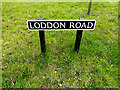 TM4191 : Loddon Road sign by Adrian Cable