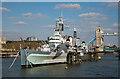 TQ3380 : HMS Belfast by The Carlisle Kid
