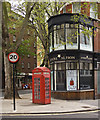 TQ3182 : Shop and K2 telephone box, Rosebery Avenue by Julian Osley
