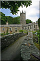 SX2281 : Pack Horse Bridge, Cosy and Rosebridge cottages and Saint Nonna's Church Altarnun by Jo Turner