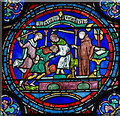 TR1557 : Stained glass window n.IV, Canterbury Cathedral by Julian P Guffogg