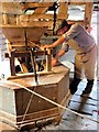 SJ4553 : Grinding the Corn at Stretton Mill by Susan Dixon